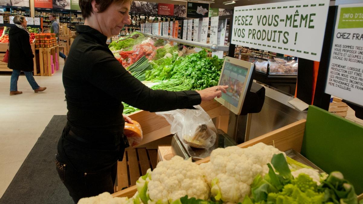 Pesée légumes Frais d'ici