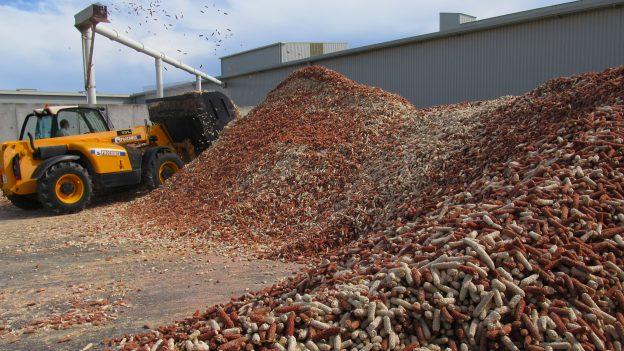 Chaudiere biomasse à rafle de maïs
