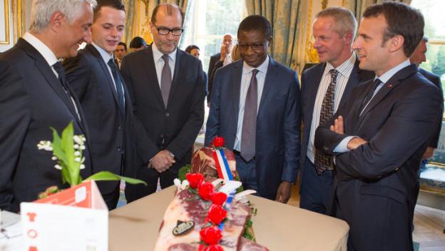 Vianov à l Elysées avec le Président Macron